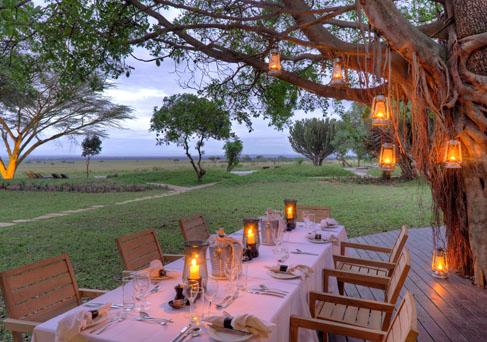 Kichwa Tembo bush dinner
