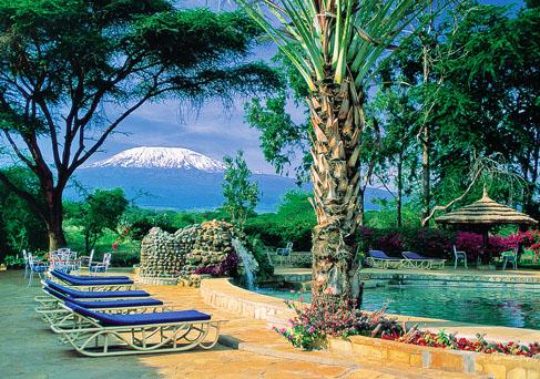 Amboseli Sopa Lodge swimming pool