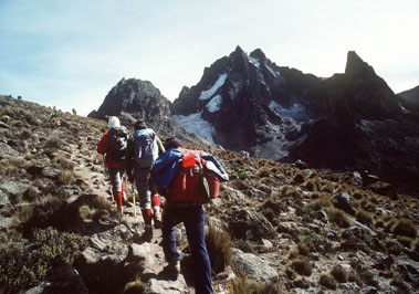 Hiking on Mt. Kenya