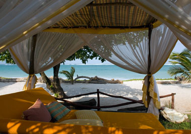 Relaxing on the beach at Kenyan Coast