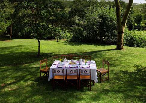 Sarova Lion Hill outdoor dining