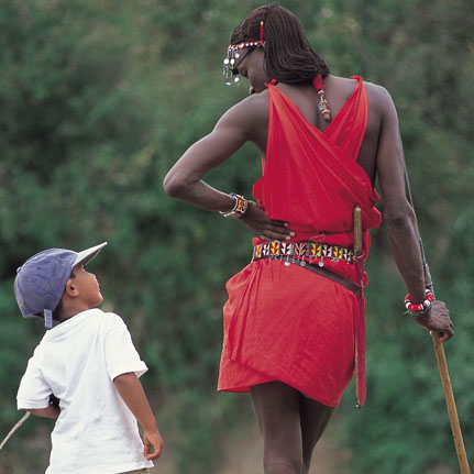 Nature walk with maasai warrior