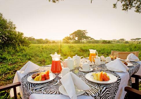 Tarangire Sopa Lodge bush breakfast