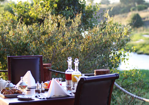 Sand River Masai Mara breakfast