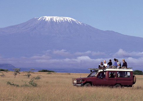 Mt. Kilimanjaro backdrop