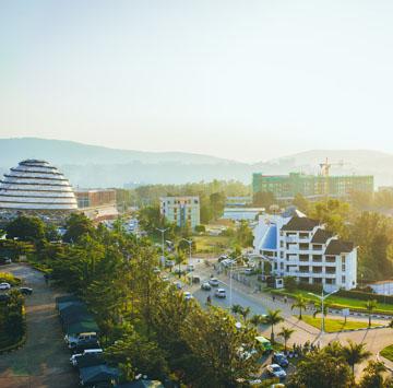 Kigali at sunset